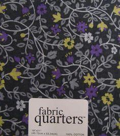 Fabric-Quarters Cotton Fabric-Assorted Gray