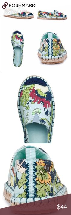 Power Walking New adorable Espadrille in box. Soft colors blue, green, navy and red. Perfect with denim or any ensemble in your wardrobe! Nifty. Shoes Espadrilles