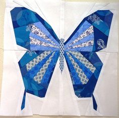 B is for Butterfly - free paper piecing pattern Free Paper Piecing Patterns, Quilt Block Patterns, Pattern Blocks, Quilt Blocks, Butterfly Quilt Pattern, Bird Quilt, Animal Quilts, Foundation Paper Piecing, English Paper Piecing