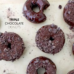 These super chocolaty donuts are easy to executive since they're baked instead of fried.