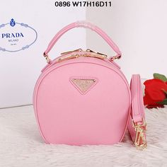 Prada Saffiano Leather Hobo Bag BL0896 Pink