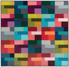 = free pattern = Colored Happy quilt by Valori Wells for Robert Kaufman | Kona cottons