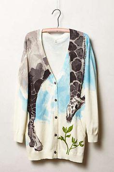 Anthropologie - Tiga Cardigan Sweater Outfits, Sweater Cardigan, Cute Outfits, Girls Sweaters, Sweaters For Women, Cardigans, Giraffe Clothes, Safari Clothes, Giraffe Print