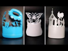 7 Creative Ideas with Plastic Bottles Plastic Bottle Flowers, Plastic Bottle Crafts, Diy Bottle, Recycle Plastic Bottles, Creative Crafts, Creative Ideas, Diy Barbie Furniture, Diy Crafts Hacks, Recycled Bottles