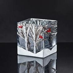Christina's Hand-Painted Winter Vase in Holiday 2012 from Uno Alla Volta on shop.CatalogSpree.com, my personal digital mall.