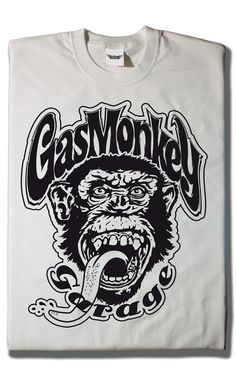 Camiseta Gas Monkey White Monkey