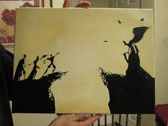 Amanda Did It: DIY Projects: The Peverell Brothers Meet Death Painting Tutorial http://amandadidit.blogspot.co.uk/2016/01/the-peverell-brothers-meet-death.html