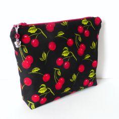 'Cherries' make up bag