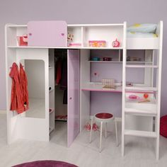 Ikea kinderhochbett mit schreibtisch  Hochbett mit Schreibtisch + Regal + Kommode | For the Boys ...