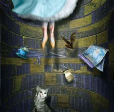 'Almost Alice' by Maggie Taylor - an awesome digital rendition of Alice in Wonderland