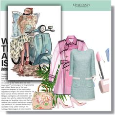 .................... by ludmila-petrova on Polyvore featuring mode, Lattori, RED Valentino, Siren, Gucci, Sephora Collection, women's clothing, women's fashion, women and female