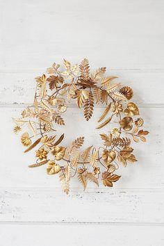 Slide View: 1: Fern & Beetle Wreath