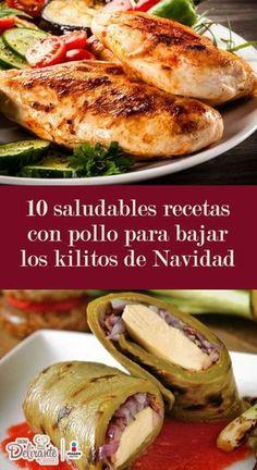 Cocina – Recetas y Consejos Mexican Food Recipes, Diet Recipes, Chicken Recipes, Cooking Recipes, Healthy Recipes, I Love Food, Good Food, Healthy Cooking, Healthy Eating