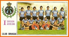 Club Brugge of Belgium team group in Belgium Team, Soccer, Club, Bruges, Baseball Cards, Retro, 1970s, Sports, Group