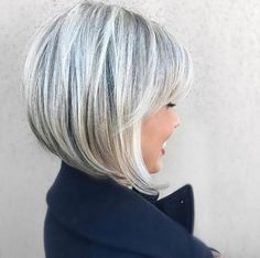 Fairy pearly silver bob by Ash Fortis