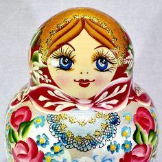 "6"" RUSSIAN TRADITIONAL MATRYOSHKA 10 PIECES BABUSHKA NESTING DOLLS RED 10PCS #Unbranded"