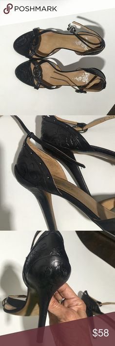 Leather diesel high heels sandals Sexy hot leather diesel high heels .. Beautiful roses all engraved in the leather.🌹worn a few times like new. Diesel Shoes Heels