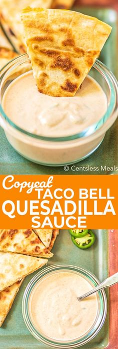 Craving Taco Bell Quesadilla Sauce but don't want to wait in line? Try this homemade copycat quesadilla sauce! It's the perfect combination of sour cream, mayonnaise, and a select few Mexican spices. Mexican Sour Cream, Sour Cream Dip, Sour Cream Sauce, Taco Bell Sauce, Taco Bell Quesadilla Sauce, Taco Bell Chipotle Sauce Recipe, Mexican Quesadilla, Quesadilla Recipes, Taco Bell Copycat