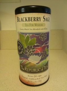 The Republic of Tea. BlackBerry Sage. Tea For Wisdom.