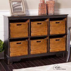 Features:  -Designer: Matthew Williams.  -Worn black with 6 solid mahogany…