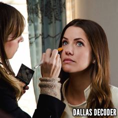 """Julie Gonzalo gets ready for her close-up in the first-season #DallasTNT episode """"Collateral Damage,"""" which debuted July 18, 2012."""