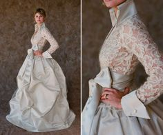 I love this dress for an older bride - very classic!