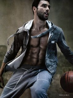Noah Mills Sweats in Dolce & Gabbana's Gym Collection for Men's Health Italia Cover Story