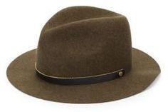 Western Style Wool Fedora #hat #womens