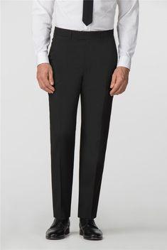 Scott & Taylor | Men's Black Panama 3 Piece Suit | Suit Direct Formal Suits, Men Formal, Trouser Suits, Trousers, Funeral Suit, Black Three Piece Suit, Suits Direct, Suit Fabric, Modern Gentleman