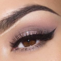 This simple yet striking eye makeup features nude eye shadow colors with a subtle hint of glitter on the lids. Watch the video to know the amazing products used for your next formal.