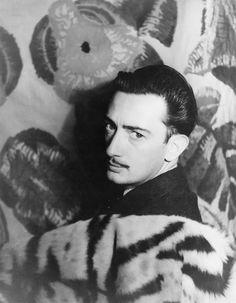 Salvador Dalí photographed by Carl Van Vechten on November 29, 1939.