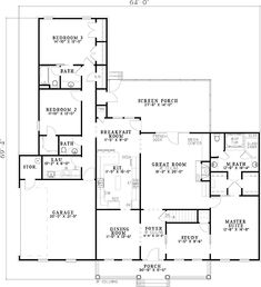 Rocking Chair Porch - 59462ND   1st Floor Master Suite, CAD Available, Corner Lot, Country, Den-Office-Library-Study, PDF   Architectural Designs