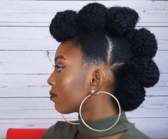 Fierce Faux Hawk Updo on Short Natural Hair Source: cynthykay obi #naturalhairmag