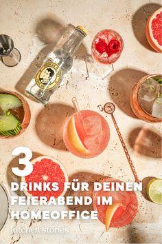 Einem leckeren #Cocktail kann wohl kaum jemand widerstehen, vor allem nicht im #Sommer! Finde jetzt mit Thomas Henry heraus, welcher #Drink am besten zu dir passt und genieße deinen Feierabend zu Hause noch ein bisschen mehr!  #homeoffice #cocktails #getränke #thomashenry #enjoythelittlethings Aperitif Drinks, Cocktails, Tonic Water, Thomas Henry Spicy Ginger, Enjoy The Little Things, Kitchen Stories, Grapefruit, Vegetables, Food