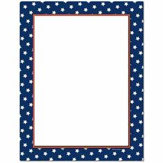 4th of July Printable Stationery americanflagborder