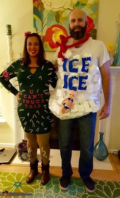 Every year we have a clever coupleu0027s costume and this year we wanted to incorporate our baby to.  sc 1 st  Pinterest & Deer Caught In Headlights Couple Costume | Pinterest | Halloween ...