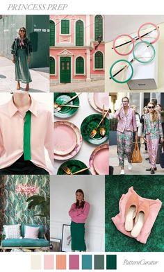 The color in decoration The color in decoration moodboard Color Trends 2018, 2018 Color, Design Trends 2018, Palettes Color, Mode Unique, Millenial Pink, Fashion Forecasting, Fashion Colours, Pantone Color