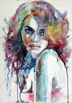 Watercolor Art by Kovacs Anna Brigitta