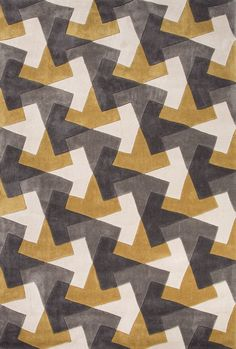Jaipur Rugs Fusion Tesselation Fn29 Gold-Gray Area Rug