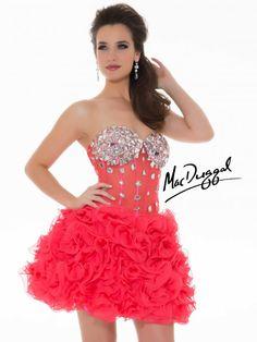Homecoming by Mac Duggal Style 64587N now in stock at Bri'Zan Couture, www.brizancouture.com