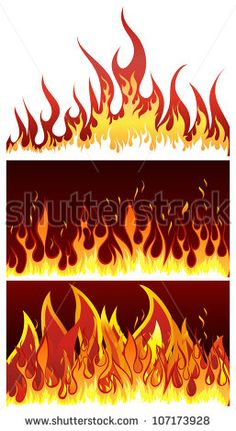 Stock Images similar to ID 129668447 - flames of different shapes ...