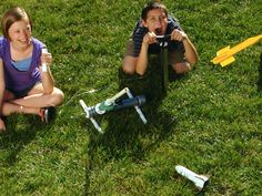 Make: Compressed Air Rockets Kit — DIY How-to from Make: Projects  We built this..so much fun and the rockets fly astonishingly high!