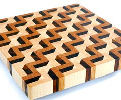I made this cutting board a year ago. It is one of my most famous end grain cutting boards. It looks simple, but you must be very precise making this board. End Grain Cutting Board, Diy Cutting Board, Wood Cutting Boards, Butcher Block Cutting Board, Chopping Boards, Woodworking Joints, Custom Woodworking, Woodworking Projects Plans, Teds Woodworking