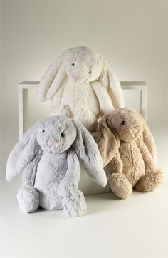 A beautiful collection of Bashful Bunnies, choose from cream, silver and honey coloured bunnies.