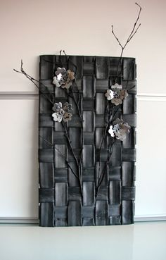 van fietsbanden Bicycle Decor, Bicycle Art, Recycled Rubber, Recycled Crafts, Bike Craft, Flax Weaving, Tire Furniture, Tire Art, Tire Chairs