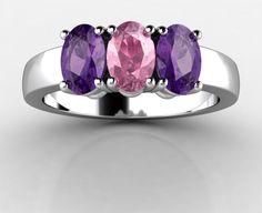 California Tourmaline and Arizona Amethyst Trio Ring, $799 (http://www.patriagems.com/products/tourmaline-and-amethyst-trio-ring.html)