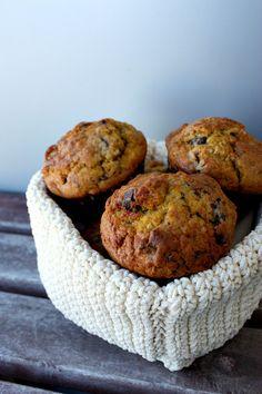 muffins de abóbora e Noz