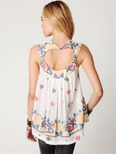 Free People FP New Romantics Ikat Print Tunic at Free People Clothing Boutique