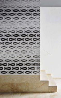 Social Housing in Palma Ripoll / Tizón screen, detail, stair, architectur, social hous, materi, brick, textur, palma de mallorca