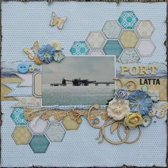 #papercraft #scrapbook #layout    Hexagons